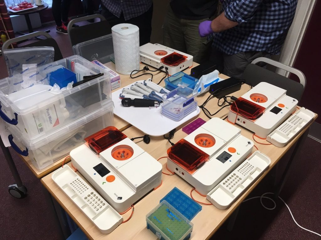 Bento Lab setup at the British Mycological Society Workshop 2019