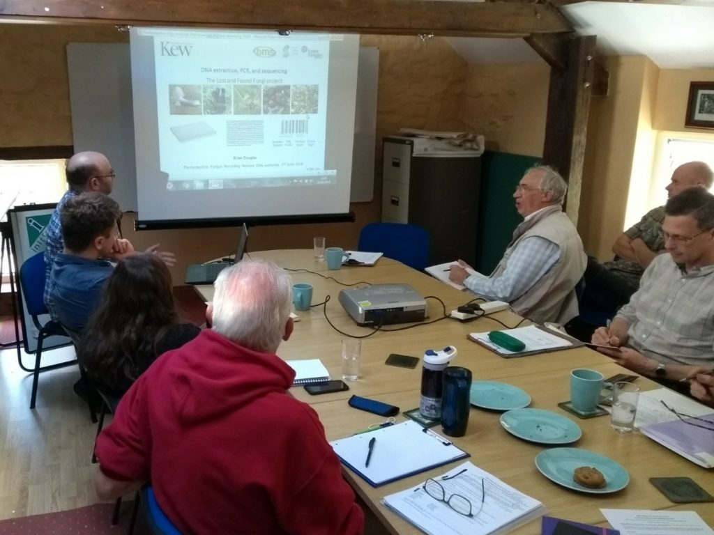 DNA theory workshop with the Pembrokeshire Fungus Recording Network and other interested parties, 2019.