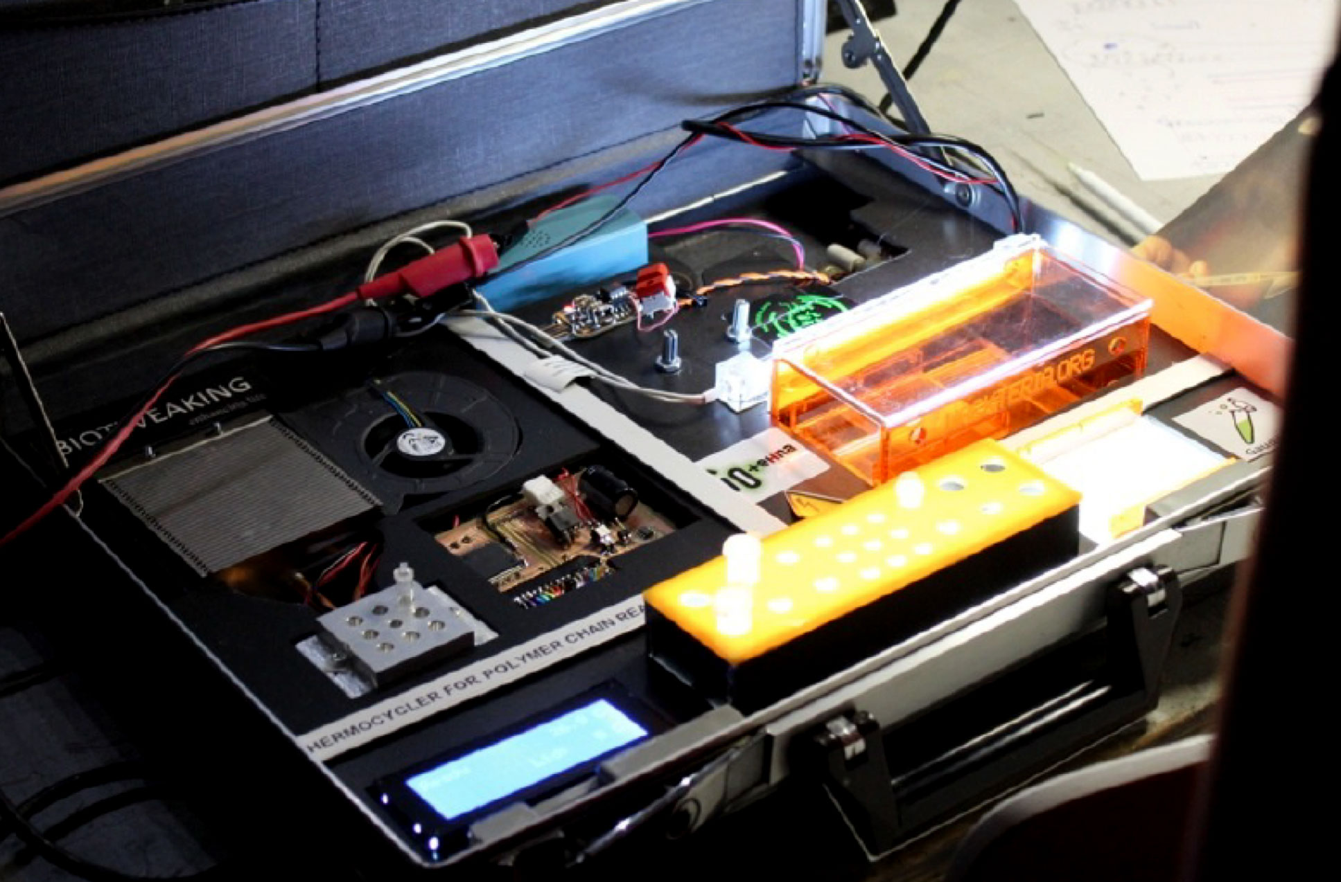 Lab in a Briefcase, Mobile Labs Hackathon (Hackteria)
