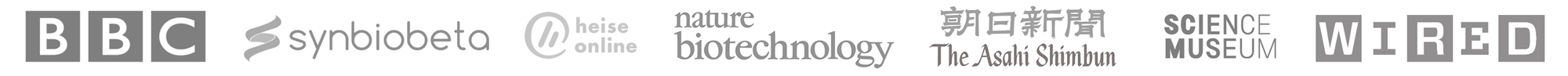Press for Bento Lab: BBC, Synbiobeta, Nature Biotechnology, Wired, Science Museum, Heise Online, Asahi Shimbun